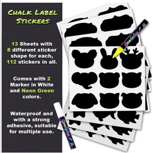 Other - 112 pcs Chalk Labels!